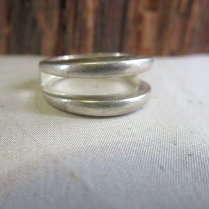 Vintage Sterling Silver Ribbed Modernist Ring